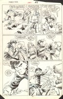 Power Pack #22 p.19 - Fight - 1985 Comic Art
