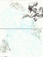 4 Hulks vs. a Sentinel DPS Commission - 2012 Signed Comic Art