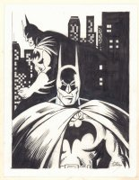Batman in Gotham Double Figure Commission - Signed Comic Art