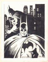 Batman in Gotham Double Figure Commission - Signed Comic Art