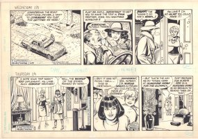 Superman 2 Strips - Lois Lane - 2/8/1984 and 2/9/1984 Signed Comic Art
