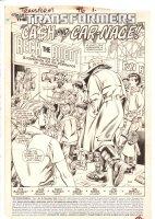 Transformers #46 p.1 - 'Cash and Car-nage!' Title Splash - 1988 Comic Art