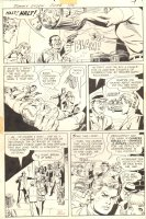 Jimmy Olsen #150 pg 4 - vs Hoodlems - Signed Comic Art