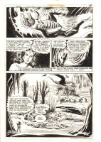 Wonder Woman #265 p.8 - Wonder Woman with Dinosaur-like Aliens - 1980 Comic Art