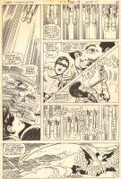 Teen Titans #48 p.13 - Robin & Flash Action - 1977 Comic Art
