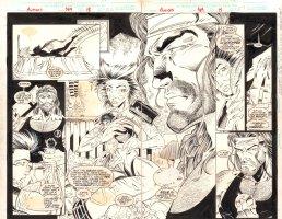 Avengers #389 pgs. 26 & 27 - Deathcry and Hercules - 1995 art by Fabio Laguna Comic Art