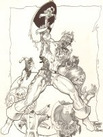 Zombie Captain America and HYDRA Commission - After Jim Steranko - 2007 Signed Comic Art