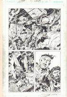 Infinity Man and the Forever People #9 p.4 - Kirby / Royer Homage - 2015 Signed Comic Art