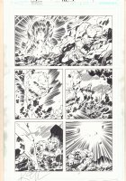 Masters of the Universe: Origin of Hordak #1 p.7 - Kirby-esque Hordak vs. Zodac - 2013 Double Signed Comic Art
