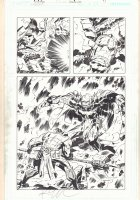 Masters of the Universe: Origin of Hordak #1 p.14 - Kirby-esque Hordak vs. Zodac Action Splash - 2013 Double Signed Comic Art
