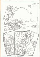 Images of Shadowhawk #2 p.8 - 1993 Signed Comic Art