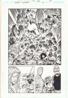 Doom Patrol #16 p.20 - Negative Man and Robotman Kirby-esque 3/4 Action Splash - 2011  Comic Art