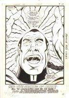 Legion of Super-Heroes, The #308 p.14 - The Prophet on Khundia End Page 100% Splash - 1984 Signed Comic Art