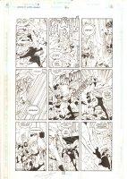 Legion of Super-Heroes #26 p.5 - Laurel vs. Brin All Action - 1992 Signed Comic Art