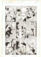 Legion of Super-Heroes #27 p.11 - Legion vs. B.I.O.N - 1992 Signed Comic Art