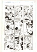 Legion of Super-Heroes #36 p.2 - Invisible Kid & Others - 1992 Signed Comic Art