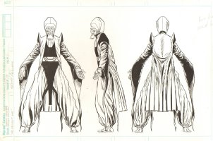 Marvel Universe Master Edition 3 Pose Character Design -The Ancient One - Dr. Strange's Mentor - Signed Comic Art