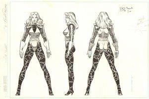 Marvel Universe Master Edition 3 Pose Character Design - Clea: Dr. Strange's Babe - Signed Comic Art