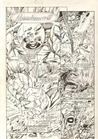 All New Exiles #2 p.4 - Awesome Juggernaut Action - 1995  Comic Art