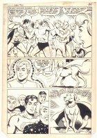 New Adventures of Superboy #50 p.38 - Legion of Superheroes and Krypto the Superdog - 1984 Comic Art