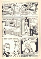 New Adventures of Superboy #31 p.18 - Superboy Flying Away from Ma and Pa Kent End Page - 1982 Comic Art