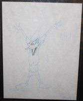 Robin Hood Daffy Duck Pencil Animation Piece #86-113 - Framed - 1958 Comic Art