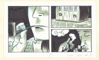 Super Spy #5 p.1 - Pipe Smoking listening to the Radio Comic Art