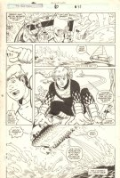 Marvel Super-Heroes #6 p.33 - Action and Ship out of Water - 1991 Comic Art