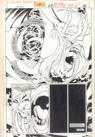 Supergirl #28 p.20 - Surreal Supergirl being Pulled into a Portral - 1999  Comic Art