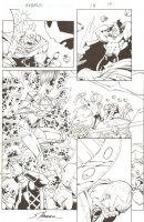 R.E.B.E.L.S. #15 p. 14 - Astrild Storm-Daughter, Starro Action - 2010 Signed Comic Art