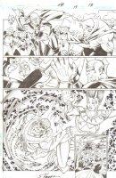 R.E.B.E.L.S. #15 p. 17 - Astrild, Starro Action - 2010 Signed Comic Art
