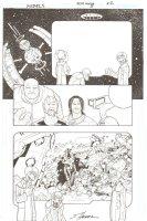 R.E.B.E.L.S. #5 p. 22 - Tigorr, Doc, Darkfire & more - 2010 Signed Comic Art