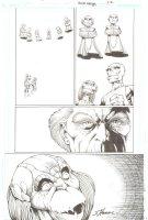 R.E.B.E.L.S. #21 p. 22 - Lantern Corps. Gathering - 2010 Signed Comic Art