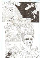 R.E.B.E.L.S. #4 p. 8 - Tigorr, Doc, Darkfire & more - 2010 Signed Comic Art