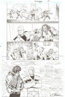 R.E.B.E.L.S. #21 p. 17 - Lobo, L.E.G.I.O.N. & Lantern Corps. - 2010 Signed Comic Art