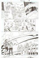 R.E.B.E.L.S. #21 p. 18 - Lobo, Captain Comet, Adam Strange, Starfire & more - 2010 Signed Comic Art
