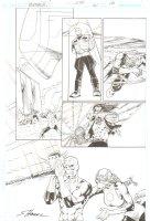 R.E.B.E.L.S. #21 p. 16 - Lobo countered by Green Lantern Corps. - 2010 Signed Comic Art