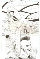 R.E.B.E.L.S. #4 p.4 - 2009 Signed Comic Art