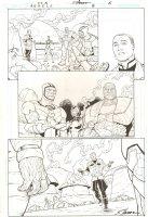 R.E.B.E.L.S. #4 p.6 - 2009 Signed Comic Art