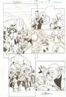 R.E.B.E.L.S. #13 p.19 - 2010 Signed Comic Art