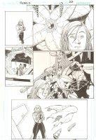R.E.B.E.L.S. #13 p.20 - 2010 Signed Comic Art
