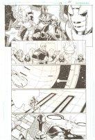 R.E.B.E.L.S. #13 p.21 - 2010 Signed Comic Art