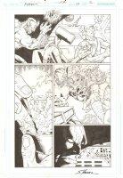 R.E.B.E.L.S. #14 p.2 - 2010 Signed Comic Art