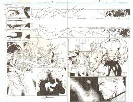 R.E.B.E.L.S. #14 pgs. 4 & 5 - DPS - 2010 Signed Comic Art