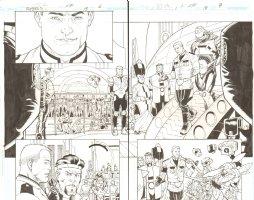 R.E.B.E.L.S. #18 pgs. 6 & 7 - DPS - 2010 Signed Comic Art