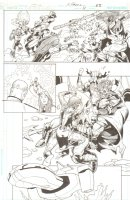 R.E.B.E.L.S. #11 p. 23 - Great Action Sequence - 2010 Signed Comic Art