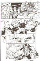 R.E.B.E.L.S #27 pg 3 Great Lobo Face Off ~ Signed  Comic Art