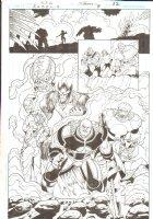 R.E.B.E.L.S #9 pg 22 - Villain Splash ~ Signed  Comic Art