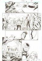 R.E.B.E.L.S #9 pg 17 - Heroes and Aliens ~ Signed  Comic Art