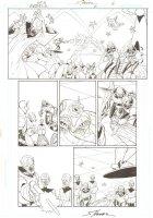 R.E.B.E.L.S #6 pg 6 Alien Blaster Action ~ Signed  Comic Art